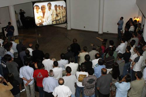 A família do Jiu-Jitsu reunida na sede do Vasco da Gama, na Lagoa. Foto: Gustavo Aragão/GRACIEMAG.