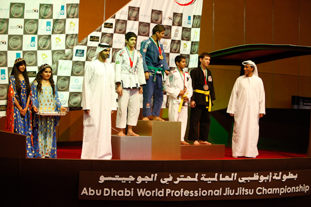 Kids podium at the 2012 WPJJC