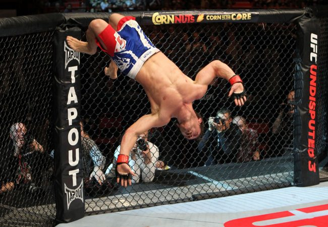 Acrobatic images from UFC on Fuel
