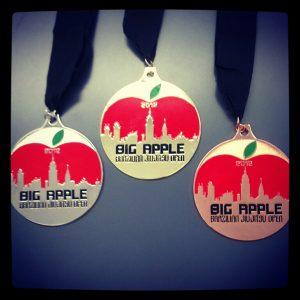 Medals for the 2012 Big Apple Open