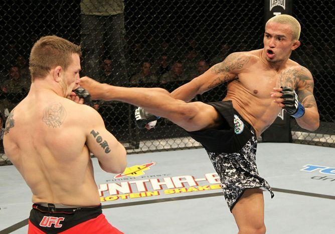 Chiquerim em sua única luta no Octagon, em janeiro de 2011. Foto: Josh Hedges/UFC