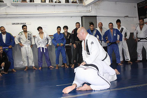 Carlson Gracie Jr. holds seminar in Florida and teaches choke trick