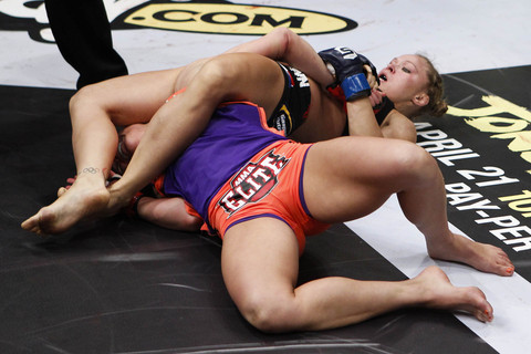 All set to defend title, Ronda Rousey teaches acrobatic Kimura