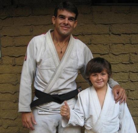 Professor Sidney Silva com o filho, Ian Kaleo. Foto: Acervo Pessoal