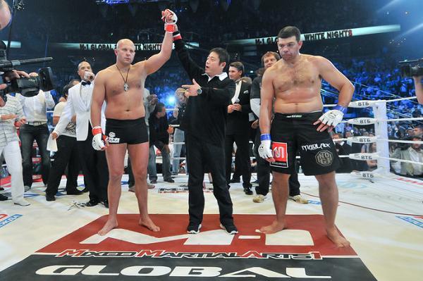 Fedor Emelianenko at his last official MMA fight against Pedro Rizzo