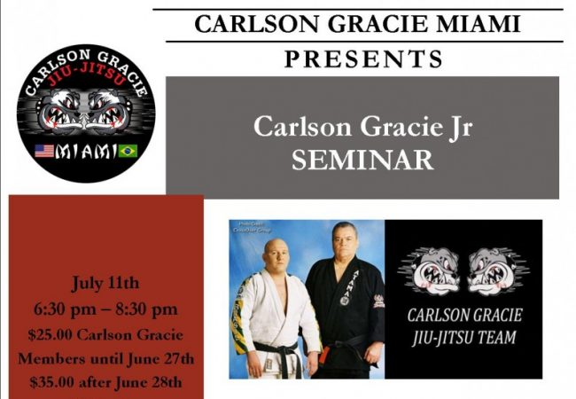 Carlson Gracie Jr seminar at Carlson Gracie Miami