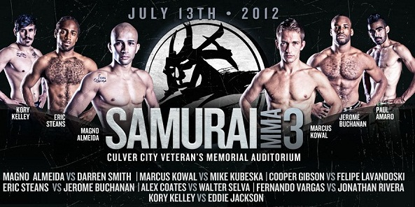 Samurai MMA Pro 3 set to light up Los Angeles area