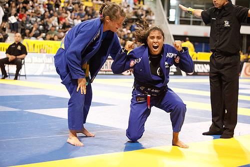 Ataque o pescoço com Hannette Staack, antes do seminário em Dallas
