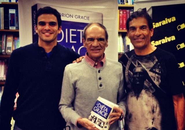 Launched the Gracie Diet book in Rio and went out for pizza
