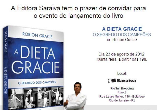 Dieta Gracie lancamento livro Rio Sul