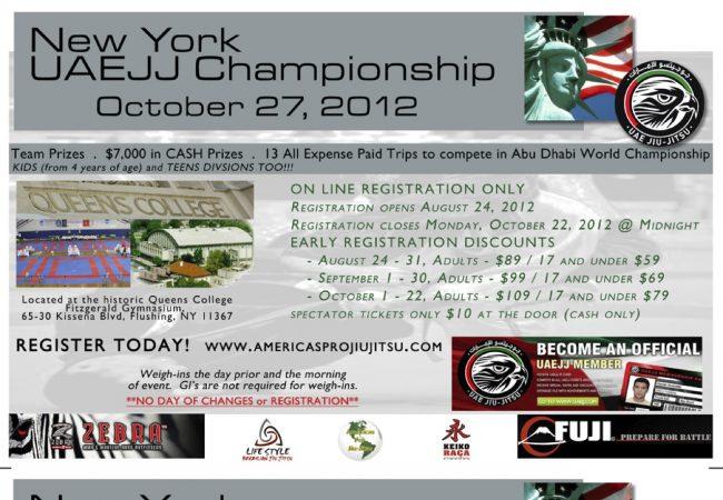 New York UAEJJ Championship next October 27th