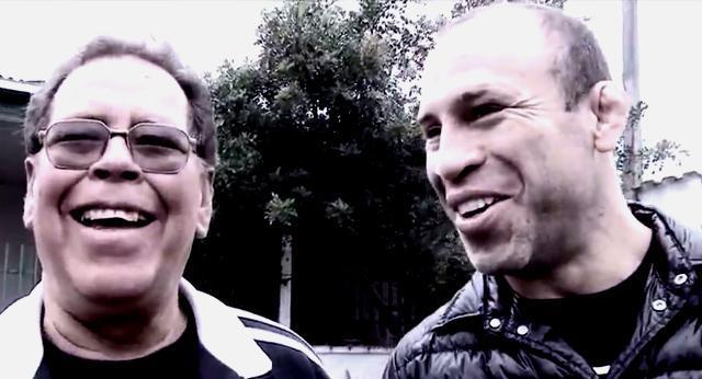 Wanderlei Silva no encontro com o pai Holando falecido em acidente de carro em agosto de 2012