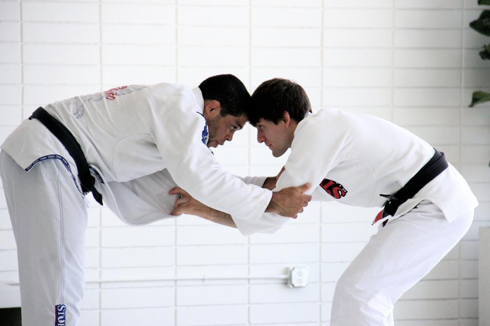 Galvão treinando com Rafa Mendes para o Metamoris.  Foto: Divulgação.