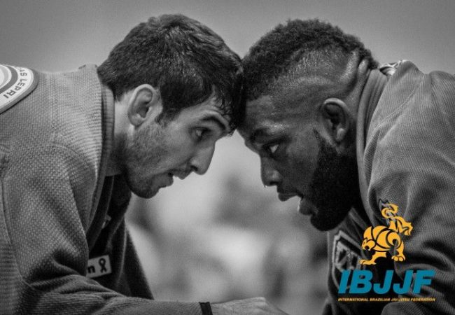 DJ Jackson (right) came out of Atlanta with two black belt golds. Photo by Preston Smith/IBJJF