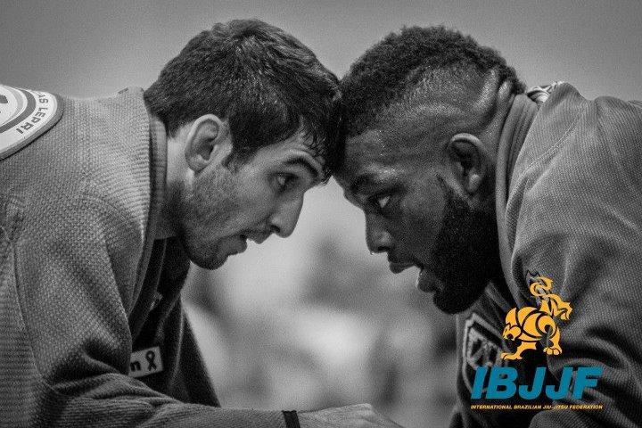 DJ Jackson (right) came out of Atlanta with two black belt golds. Photo by Preston Smith/IBJJF