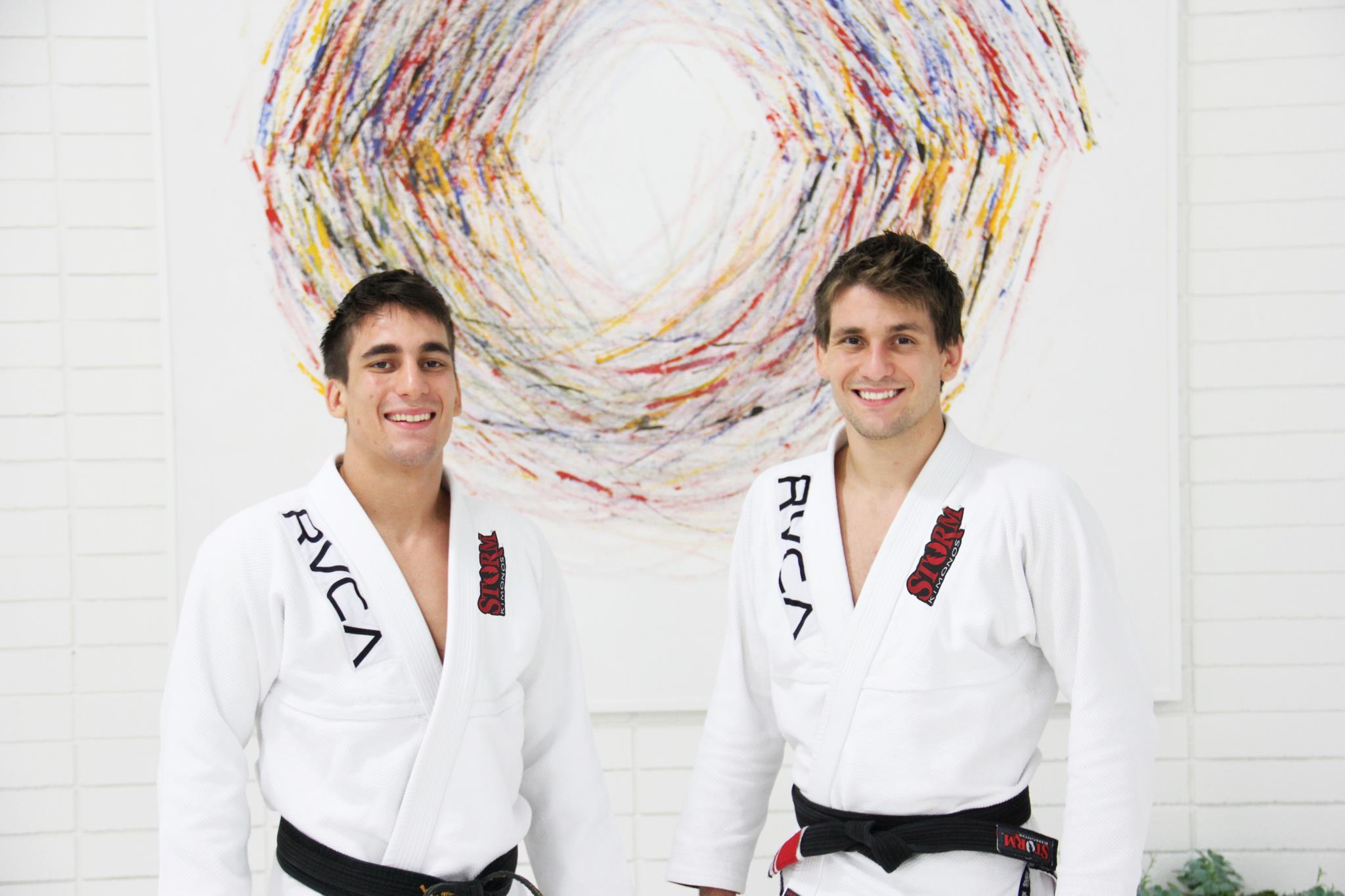Black belts Guilherme Mendes and Rafael Mendes