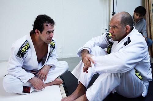 Fabio Gurgel com seu pupilo Marcelinho Garcia