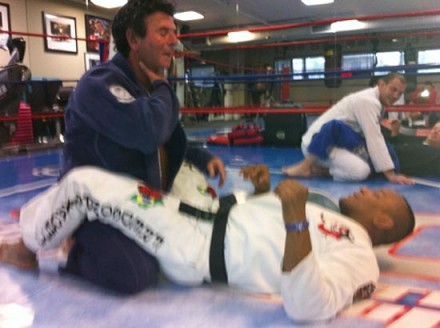 Ministro do STF Luiz Fux com Fredson Paixao em treino de Jiu Jitsu