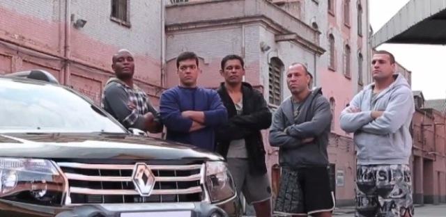 As feras do UFC em comercial de carrão. Foto: Divulgação