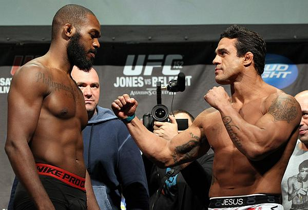 Jon Jones e Belfort no peso para o UFC 152