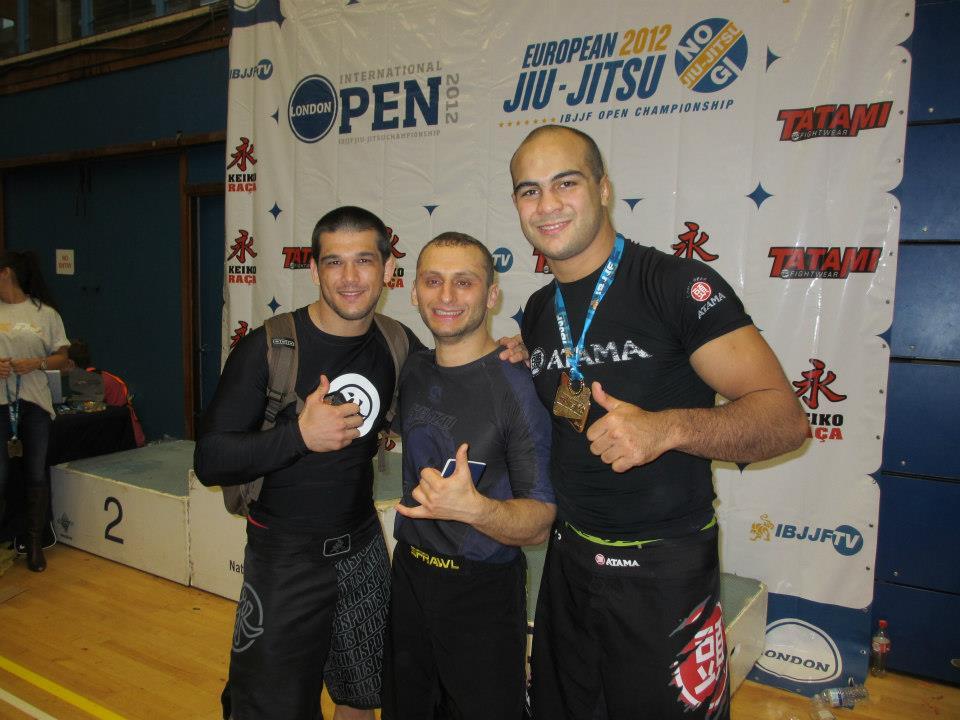 Faria(right) was the black belt open class champion