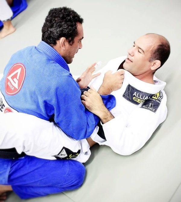 Braulio Estima e Fabio Gurgel durante treino na Alliance, no dia . Foto: Jair Lacerda/GRACIEMAG