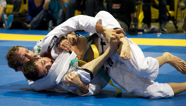 Jeff Glover busca as costas de Caio Terra na World Jiu Jitsu Expo Foto Dan Rod