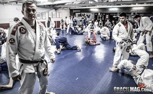 Draculino runs the camp at Gracie Barra America