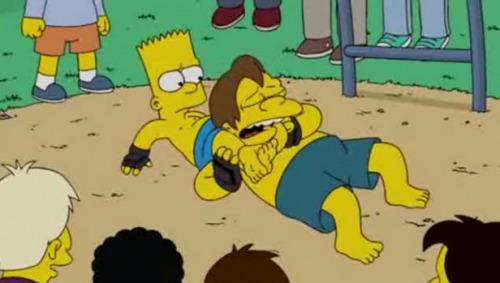MMA e triangulo em Simpsons