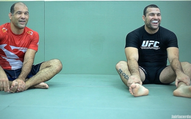 Mauricio Shogun Rua with Fabio Gurgel at Alliance Jiu-Jitsu academy, in Sao Paulo, Brazil. Photo: Jair Lacerda/GRACIEMAG