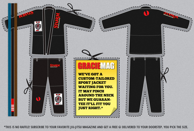 Get a free Storm Gi with a GRACIEMAG two-year subscription
