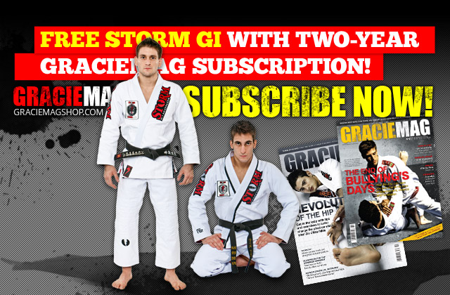 Subscribe to GRACIEMAG and get a free Storm Gi!