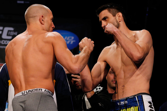 Watch GSP and Carlos Condit in Jiu-Jitsu training, and weigh in: who wins it?