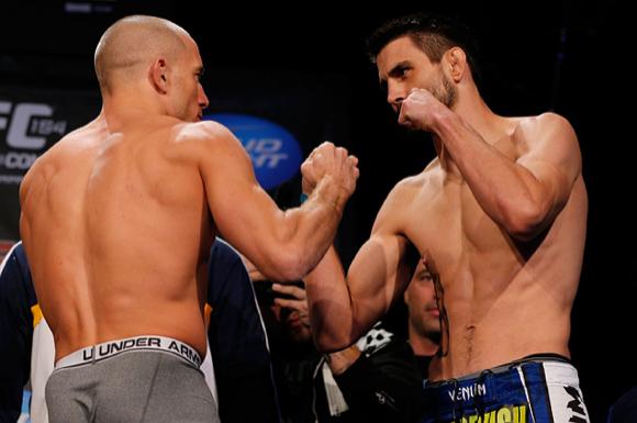 GSP e Condit na pesagem do UFC 154