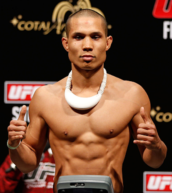 Jon Tuck na pesagem do UFC em Macau Foto UFC