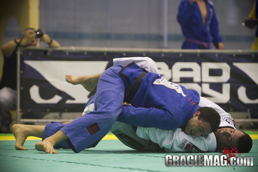 Leo Nogueira on top winning at the South American Championship.