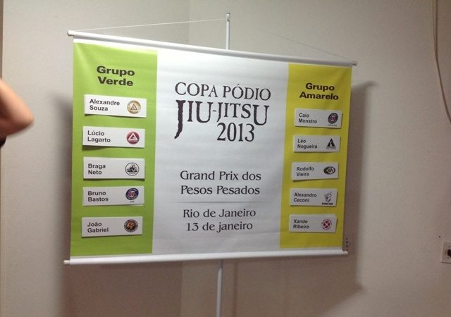 """Copa Pódio: draw places Xande, Rodolfo and Nogueira in """"group of death"""""""