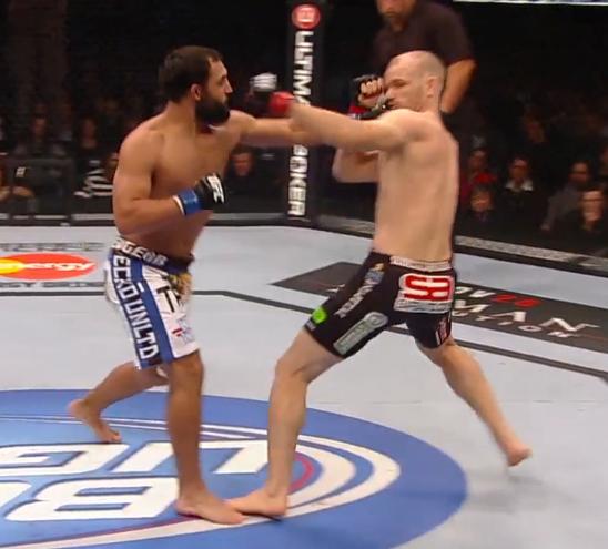 Johny Hendricks left hand shows up again against Kampmann at UFC 154