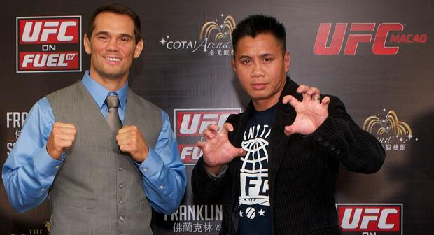 Check out the staredowns from UFC China weigh-ins
