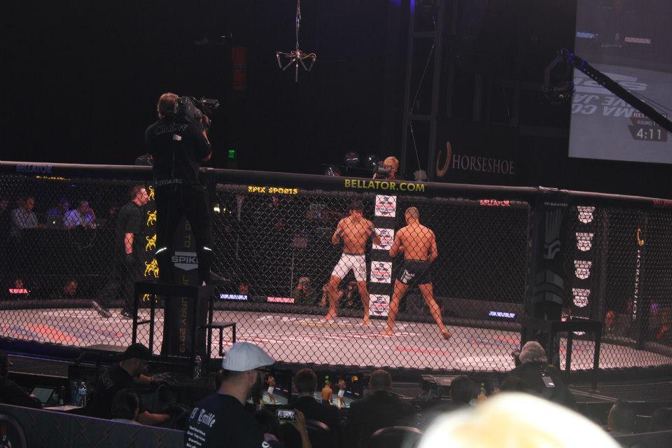 Black belt Christian Uflacker in action at Bellator 84