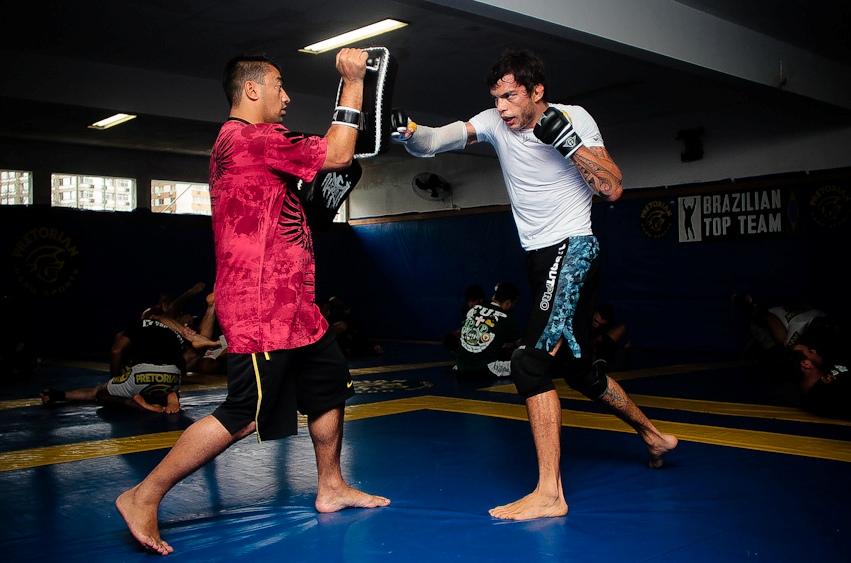 MIltinho Vieira em treino na BTT. Foto: Diogo Martins/Garra Marketing