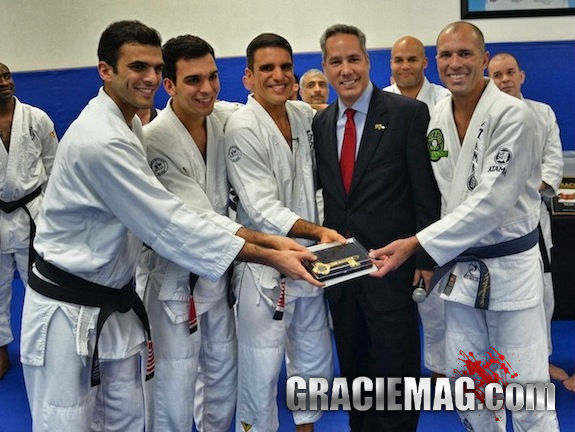 Valente Brothers Receive Royce Gracie and Key to City in Miami