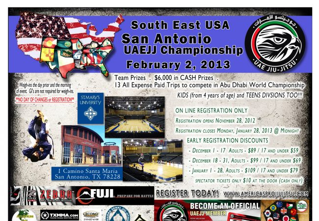 San Antonio Abu Dhabi World Pro Cup Trials Registration Open!