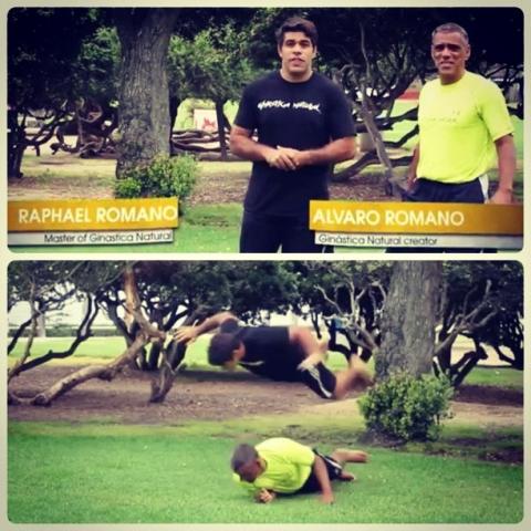 Raphael Romano e Álvaro Romano ensinam você a praticar a ginástica natural. Foto: Divulgação.