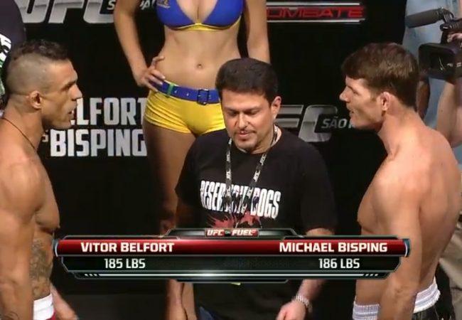 Troca de farpas entre Belfort e Bisping fecha a pesagem do UFC São Paulo