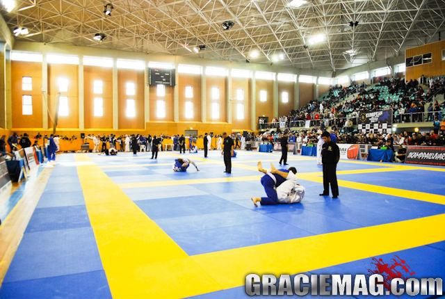 Panorâmica do ginásio do Europeu de Jiu-Jitsu. Foto por Ivan Trindade.