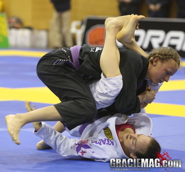 Charlotte Von Baumgarten dominated the ladies purple belt division