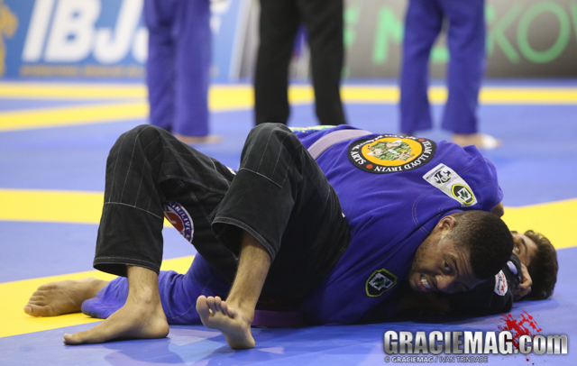 Tim Spriggs was the great champion of the purple belt at the 2013 Euro Open