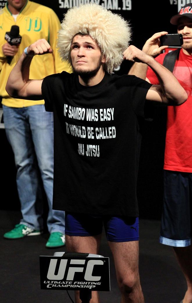 Khabib afronta os amantes do Jiu-Jitsu. Foto: UFC/Divulgação
