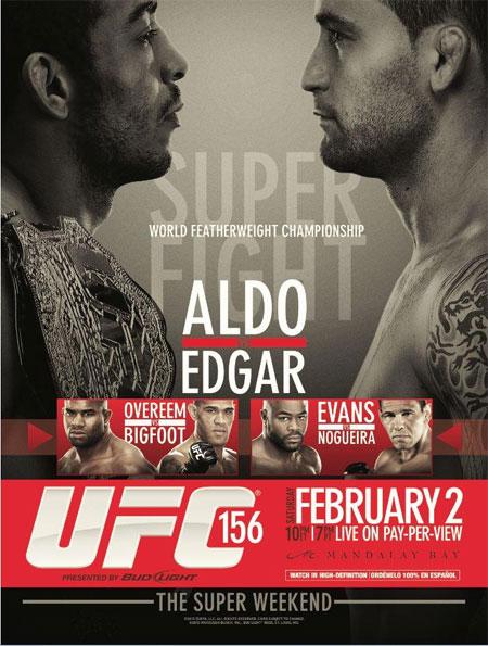 Poster oficial do UFC 156. Foto: UFC/Divulgação